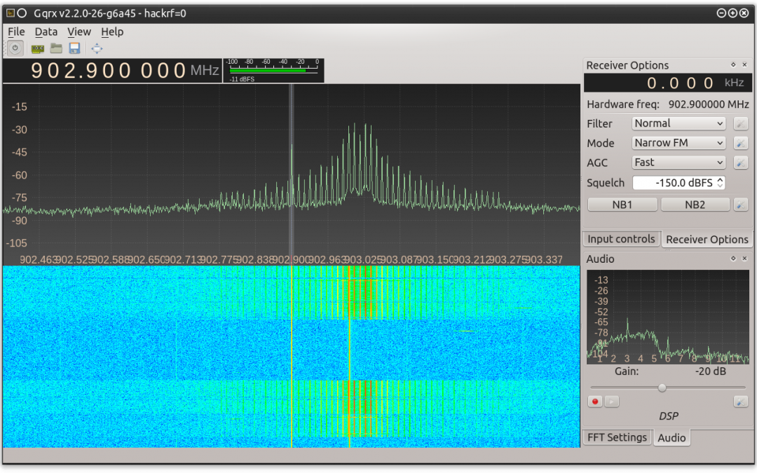 Radio Communication Analysis using RfCat