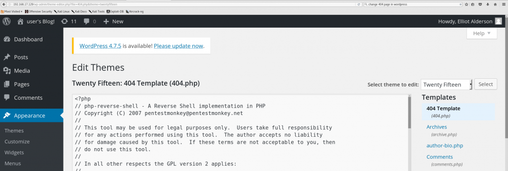Wordpress Webshell